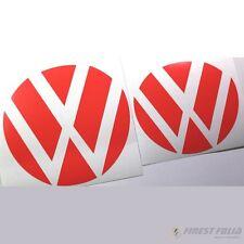 Emblem Ecken Neon Rot vorne+hinten VW Golf 7 VII GTI GTD R Turbo Logo