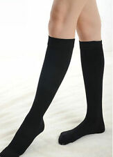 NEW KNEE HIGH OPAQUE SOCKS BLACK WHITE STOCKING FAST FREE POST