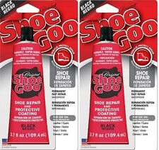 2 Shoe Goo Black 110212 Adhesive Glue Leather Vinyl Rubber 3.7oz 102120