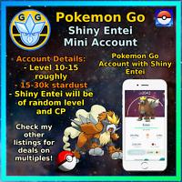 Pokemon Account Go Shiny Entei - Mini Acc!