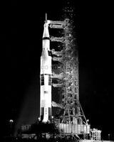 SATURN V 5 ROCKET ON LAUNCH PAD - 8X10 NASA PHOTO (BB-967)