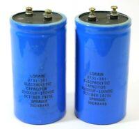 Pair- SPRAGUE 20000-21000UF/Microfarad 100V Elecrtrolytic Filter Capacitors