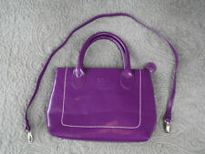 OSPREYS O.S.P Purple Leather Handbag with Shoulder Strap Crossbody