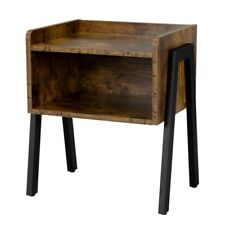 Small End Table for Small Spaces Accent Wood Nightstand Bedroom Bedside Table
