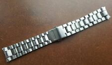 NEW SEIKO 18MM STAINLESS STEEL CURVED ENDS GENTS WATCH STRAP/ BAND (SE-12)