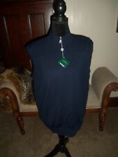 NEW BOBBY JONES SUMMER BLUE LINED SWEATER GOLF VEST MEN SIZE LARGE