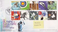 TALLENTS HOUSE PMK GB ROYAL MAIL FDC 2009 OLYMPIC & PARALYMPIC GAMES STAMP SET