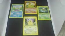 CHARMANDER SQUIRTLE IVYSAUR PIKACHU FIRST EDITION BASE SET SPANISH POKEMON CARDS