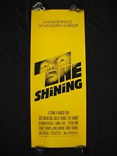 The Shining * 1980 Original Movie Poster Authentic Insert Kubrick Halloween Nm-M