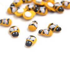 100PCS/Lot Mini Bee Wooden Ladybug Sponge Self-adhesive Stickers Kids Toys