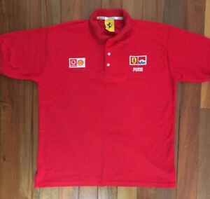 Ferrari Mens Polo Shirt 1996 Official Merchandise Vodafone Shell Marlboro Puma