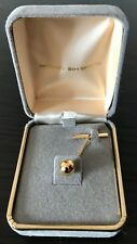 Tinder Box Vintage Electroplated Golden Faux Pearl Tie Tack Pin