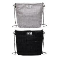 Pure Color Shoulder Messenger Handbags Women PU Leather Chain Crossbody Bag H1