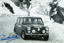 Paddy Hopkirk Hand Signed Mini Cooper Photo 12x8 14.