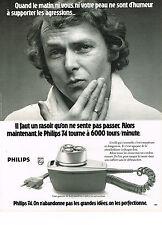 PUBLICITE  1974   PHILIPS  rasoir 6000 tours/  minute