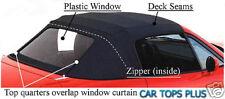 1990-97 Miata Convertible Top & Zip Out Plastic Window in Black Cabrio Vinyl