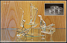 Glass display stands for Swarovski crystal POS 16 x 2