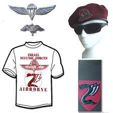 Israeli Army / military / IDF  Parachuting / Airborne Set Beret+T-Shirt+Tag+Pins