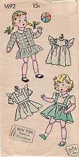 "1692 Vintage Chubby Doll Pattern - Size 12"" - Year 1934"