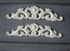 2x Shabby Chic French Furniture Moulding Furniture Applique Carving Onlay