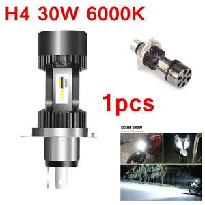 For Motorcycle H4 6000K LED Hi/Lo Beam Front Light Bulb Super Bright Headlight