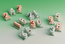 Dolls House Miniature 1/12th Scale Number Birthday Cake - Various to Choose From