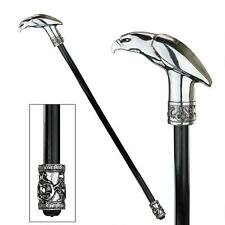 MAJESTIC AMERICAN EAGLE BIRD GENTLEMAN WALKING STICK Deco Cane Dad Husband Art