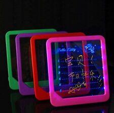 "Hot! 8""x9""LED Board Useful Writing Painting Massage Board Panel Fluorescent Pen"