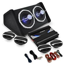 SISTEMA AUDIO AUTO SET AMPLIFICATORE CASSE ALTOPARLANTI 3 VIE SUBWOOFER CAR HIFI