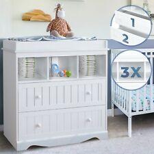 Infantastic® Wickelkommode Wickelregal Baby Kommode Wickeltisch Aufsatz Weiß