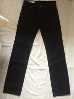 GAS JEANS MEN'S NAVY BLUE PANTS STRAIGHT LEG REGULAR W 29 X L 34