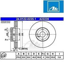 1x Bremsscheibe ATE 24.0132-0129.1 Scheibenbremse Alfa Romeo