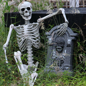 Halloween Party Decoration Full Life Size Human Skull Skeleton Anatomical Fancy