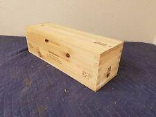 "Dana Estates Napa Wine Crate holds 1 btt size 6""x6""x18"""
