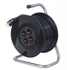 Kabeltrommel Ø285mm 50m Kunststoffmantelleitung Verlängerungskabel Stromkabel