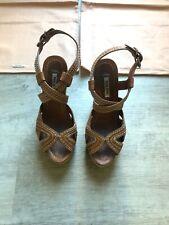 Miu Miu Cork Wedge Sandals Size 35