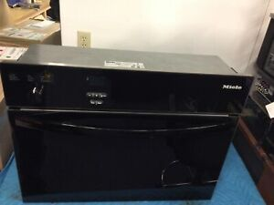 """Miele 24"""" Black Built-in Convection Steam Oven DG Model 155-2 W/Trays Electric"""