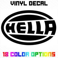 Hella Logo Decal Sticker Die Cut Vinyl