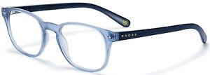 Cross Men's Princeton Blue Frame, Clear Lens Reading Glasses (+1.0) RD0160-1A
