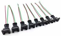 8 FUEL INJECTOR CONNECTOR WIRING PLUGS CLIPS FIT EV1 OBD1 PIGTAIL LT1 LS1 LT6 GM