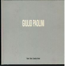 GIULIO PAOLINI FABBRI CASTELLO DI RIVOLI 1991 ANTEPRIMA 1 INSTALLAZIONI