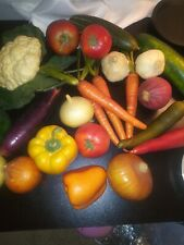 Fake faux Vegetables Lot 23 peppers onion carrots tomato staging prop kitchen