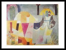 Paul Klee Landschaft miten Säulen Poster Kunstdruck und Rahmen 80x60cm