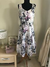 New Laura Ashley Pink Lilac Floral Special Occasion Dress Size 12 Wedding