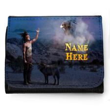 Personalised Mens Wallet INDIAN WOLF Grandad Dad Father Boys Birthday Gift SH138