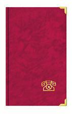 Adress- U. Telefonbuch mit Messingecken