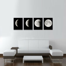 Canvas Prints Painting Home Decor Wall Art Abstract Moon Black Pictures Framed
