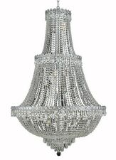 World Capital  Empire 17 Light Foyer Crystal Chandelier Light - Chrome