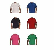 Men's Loose Fit Short Sleeve Cotton Polo Casual Shirts & Tops