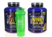 2 Pack MHP Pro Platinum Whey Isolate With BCAA 32g Protein, 3.1 Lbs x 2 VANILLA